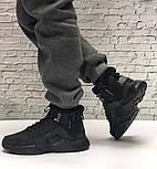 Зимние мужские кроссовки Nike Huarache X Acronym City Winter black с мехом теплые черные. Живое фото. Реплика, фото 2