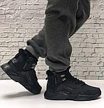 Зимние мужские кроссовки Nike Huarache X Acronym City Winter black с мехом теплые черные. Живое фото. Реплика, фото 3
