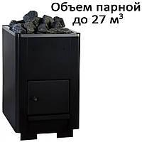Печь банная, без выноса, глухая дверь, черн. PК-27 (27кВт)