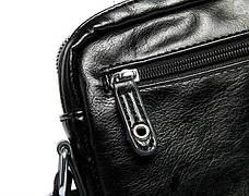 Сумка через плечо черная сумка много карманов и отделений несколько замков - 223-05, фото 3