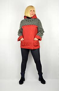Куртка-свитер красная с капюшоном - Модель Свифт