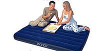 Надувной велюровый матрас Intex Downy 68758