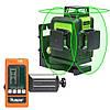 Лазерный уровень Huepar HP-903CG с зелёными лучами + ПРИЕМНИК ЛУЧА, фото 7