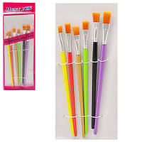 """Набор кистей для рисования """"Lily"""" в наборе 6шт, пластиковые, кисть, художественные кисти, кисточка, кисти для"""