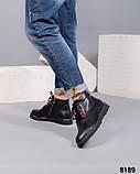Деми ботинки кожаные черные, фото 2