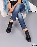 Деми ботинки кожаные черные, фото 3