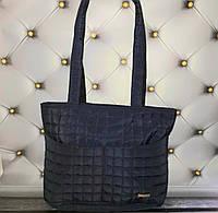 Сумка жіноча для покупок стьобаний розмір 38х26х12 синя
