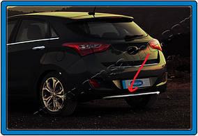 Hyundai I-30 2012-2017 рр. Накладка на задній бампер нижня (HB, нерж)