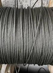 Трос нержавеющий 8мм плетение 1х19 (AISI 316)