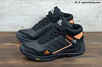 Мужские кожаные зимние кроссовки Adidas, фото 1