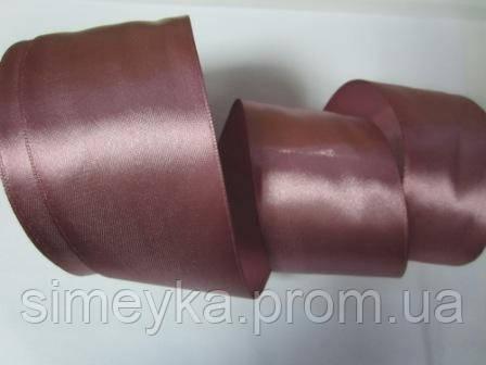 Лента атлас 5 см фрес розовый шоколад