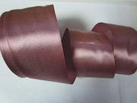 Лента атлас 5 см фрес розовый шоколад, фото 1