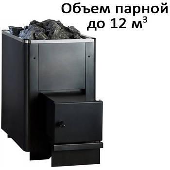 Печь банная, c выносом, глухая дверь, черн. PК-12L (12кВт)