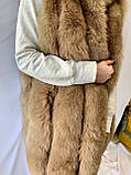 Женская зимняя жилетка, на натуральном меху песца Baizza Liliy, фото 2