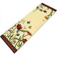Коврик для йоги и финеса Zelart Yogamat двухслойный 3 мм джутовый, каучук (FI-7157-2)