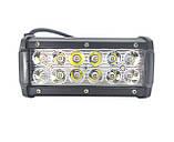 LED фара светодиодная 12 диодов. Двухрядная лэд фара - прожектор! Товар с Гарантией качества! С -36W.S. Корея, фото 4