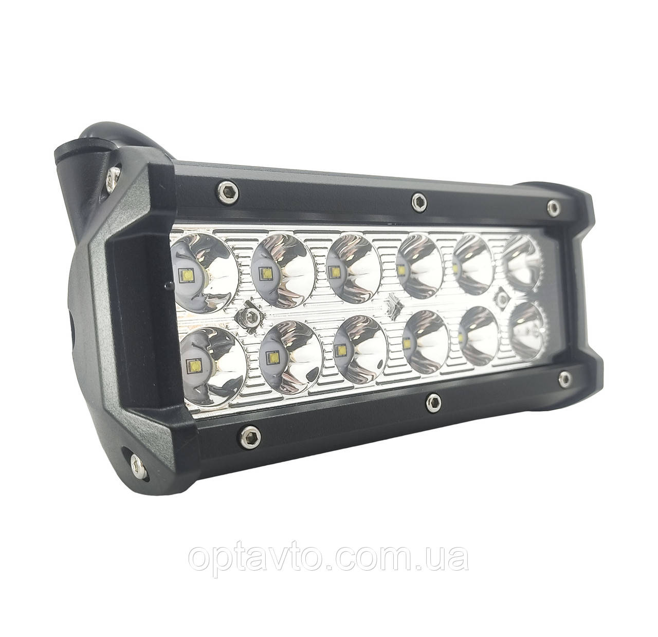 LED фара светодиодная 12 диодов. Двухрядная лэд фара - прожектор! Товар с Гарантией качества! С -36W.S. Корея