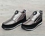 Серебристые женские зимние ботинки - ботильоны (Бт-5л), фото 3