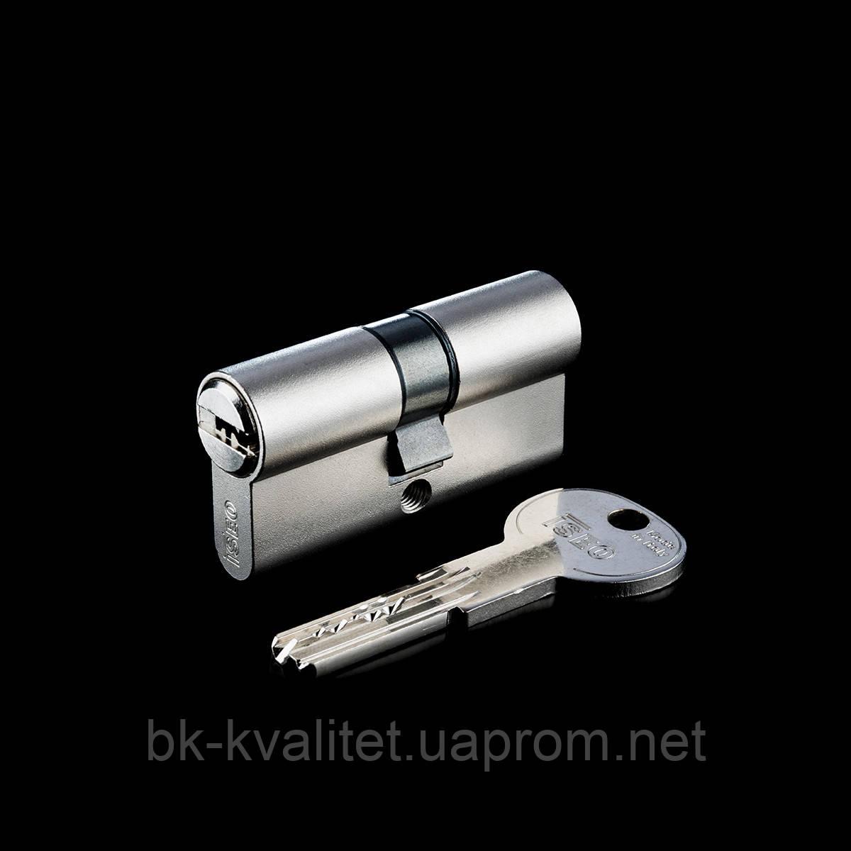 Цилиндр ISEO R6 90 (45х45) ключ/ключ, никель