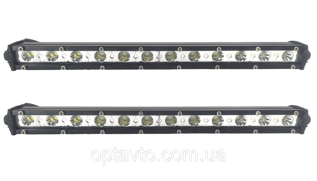 Комплект LED (лэд) фар по 12 диодов в каждой. Боковое крепление! Гарантия качества! Е- 36W / S. Корея