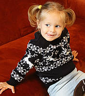 Детский вязаный  рождественский свитер Джемпер/Гольф (Синий), девочка/мальчик