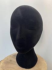 Манекены головы из пенопласта женская С ДЕФЕКТОМ!  Обхват 54см. для шапок, париков, очков, рисования., фото 3