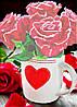 """Схема для вишивання бісером на атласі """"Троянди для коханої"""""""