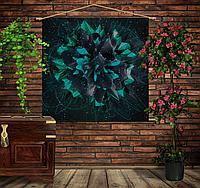 Мобильная картина-постер (гобелен) на ткани с 3D с принтом Flower plazma