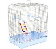 Клетка для мелких декоративных птиц Белла 37*25*37, белая