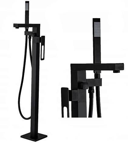 Напольный смеситель для ванны REA SOHO черный, фото 2