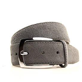 Ремень Casa Familia кожаный серый L4061W1 105-115 см