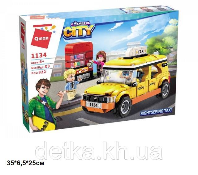 Конструктор Qman 1134 Colorful City Sightseeing Taxi 322дет