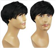 Мужской парик цвет блонд , медно коричневый,каштановый, чёрный