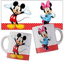 Чашка с Микки и Минни.