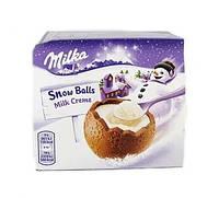 Шоколадные шарики Milka Snow Balls с молочной начинкой 4х28гр