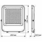 LED прожектор VIDEX PREMIUM 100W 5000K 220V Gray VL-F2-1005G 25959, фото 3