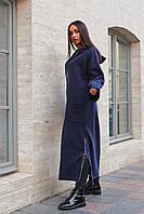 Стильное женское пальто батал, трехнить