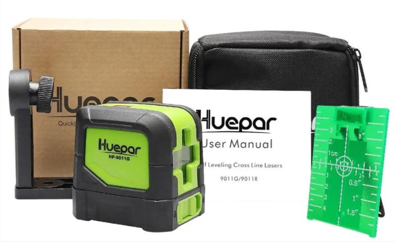 СУПЕРЯРКИЙ☀ Лазерний рівень Huepar HP-9011G ☀ КРОНШТЕЙН У ПОДАРУНОК★