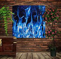 Мобильная картина-постер (гобелен) на ткани с 3D с принтом Космический огонь