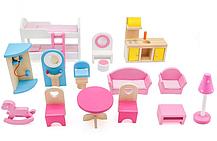 Кукольный домик игровой AVKO Вилла Венеция + LED подсветка + 2 куклы, фото 3