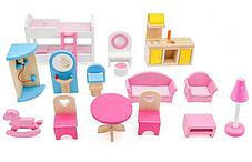 Кукольный домик игровой AVKO Вилла Верона + LED подсветка + 2 куклы, фото 3