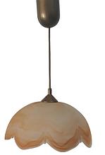 """Светильник-подвес кухонный, Подвес, 1 большой плафон оранжевый """"Цветок"""""""