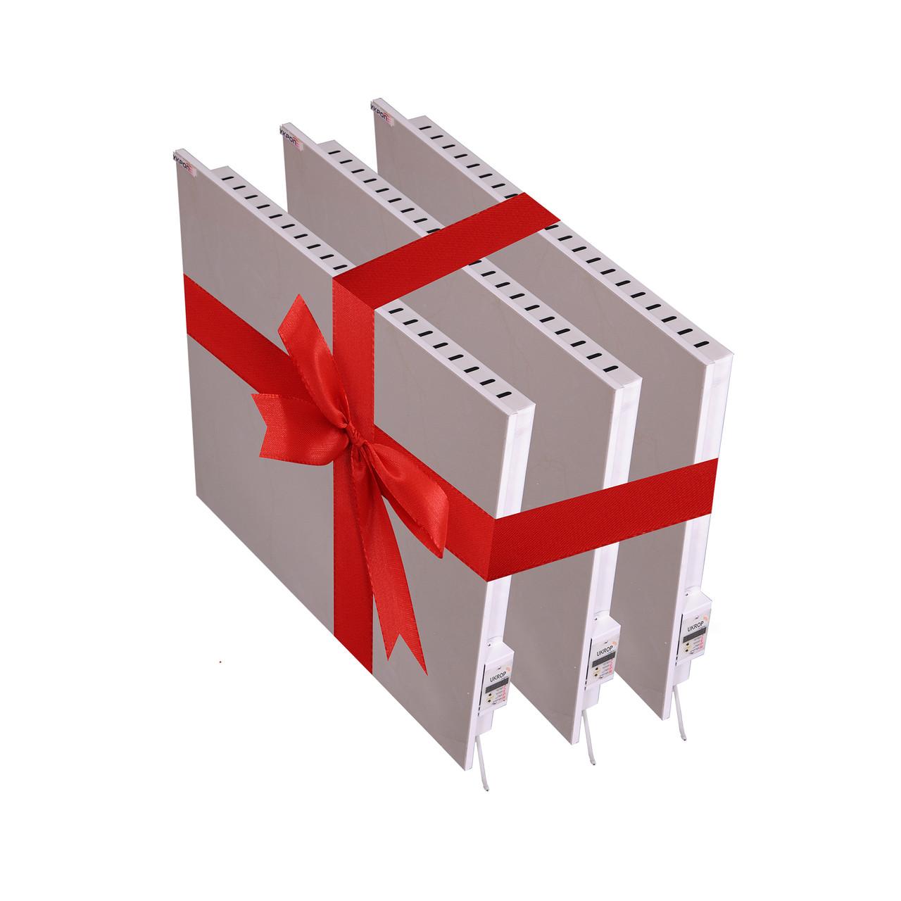 Промо-набор для дилеров. Керамический обогреватель UKROP БИО-К 750ВТ с цифровым терморегулятором