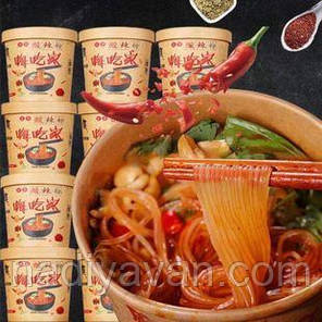 Лапша быстрого приготовления - кисло острый суп в чаше Heychejia 120г, фото 2