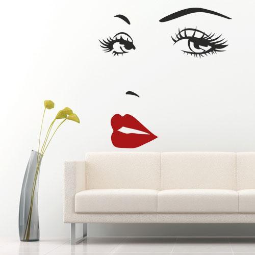 Наклейка на стіну Жіноче обличчя