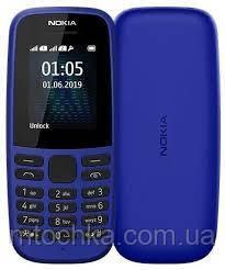 Мобільний телефон Nokia 105 Dual Sim 2019 Blue (офіційна гарантія)