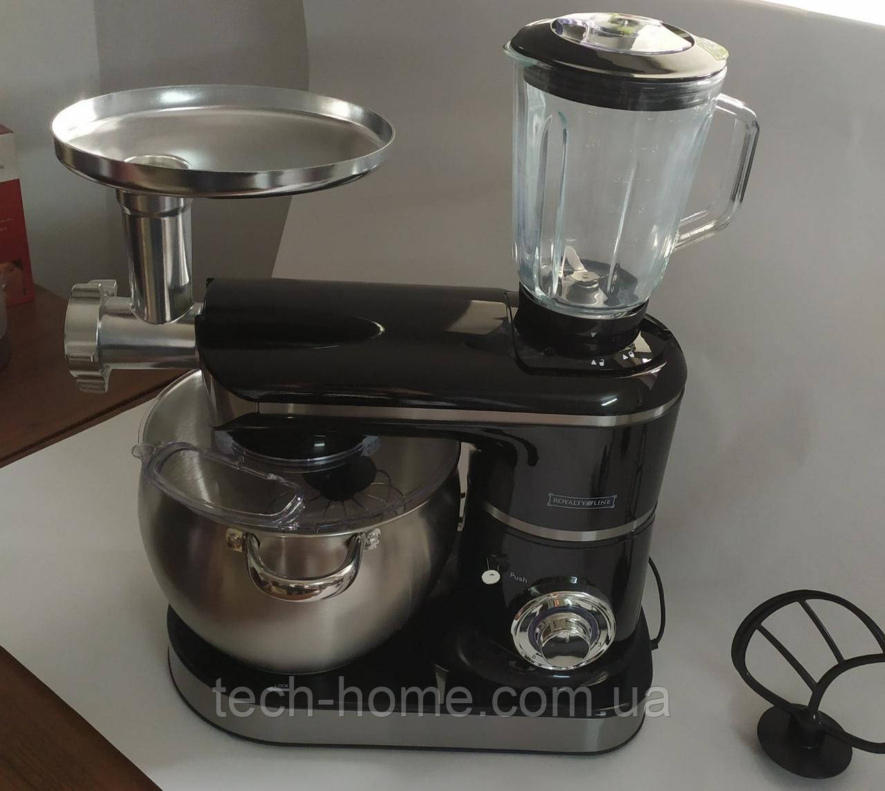 Кухонный комбайн тестомес Royalty Line RL-PKM 2200.472.9 BG   2200 Вт  BLACK