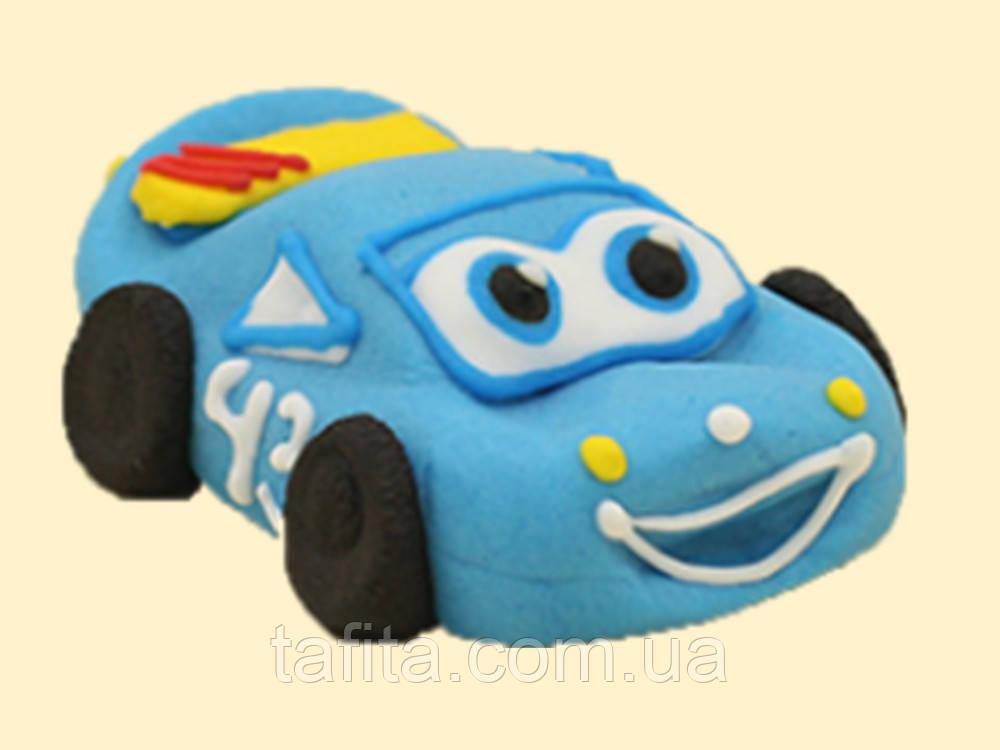 Машинка из мастики Синяя