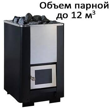 Печь банная,без выноса, стеклянная дверь, н/ж PК-12S (12кВт)