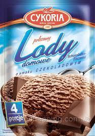 Сухое мороженое порошок в пакетиках  Lody Cykoria Czekoladowym smaku (шоколадное), 60г